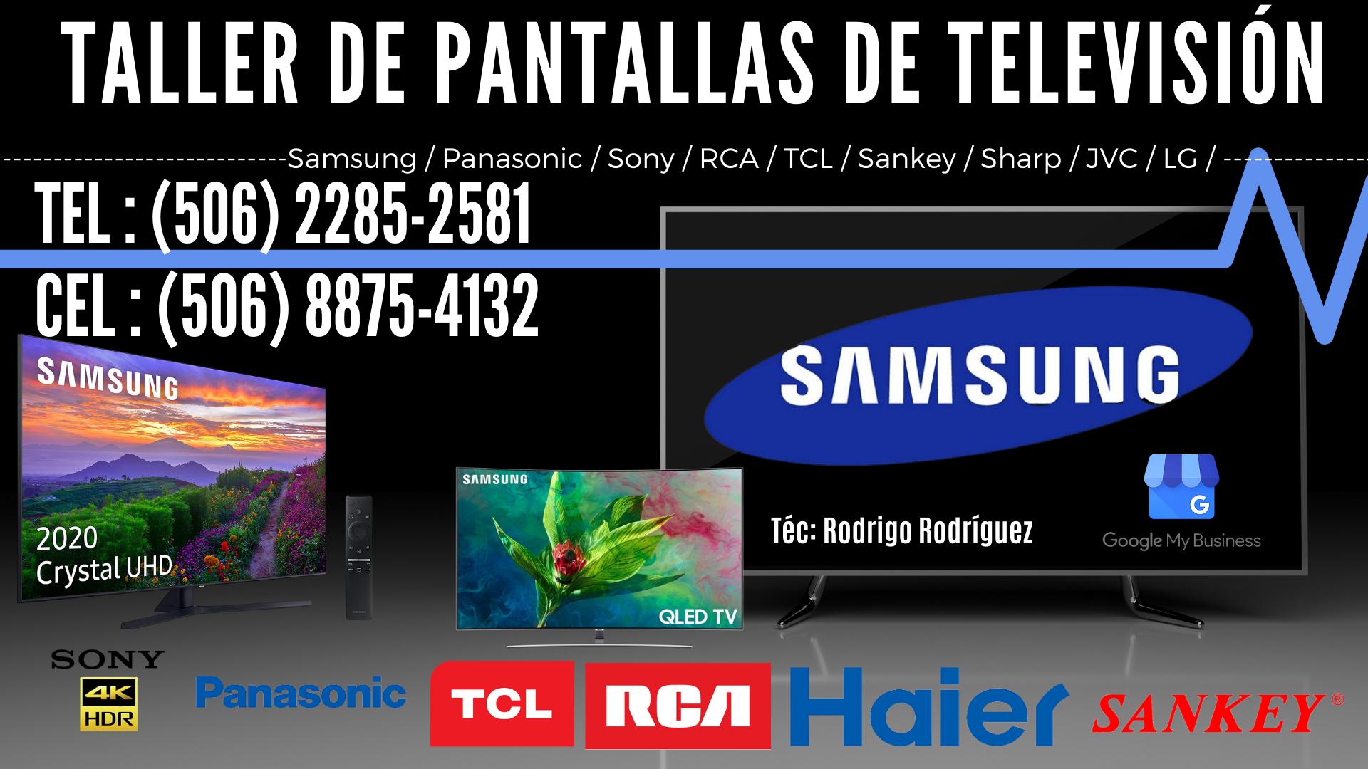 Taller de pantallas de televisión en Costa Rica